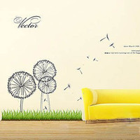 Flying Dandelion Home decor Wall Sticker Decal - GULLEITRUSTMART.COM