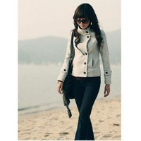 Wholesale Stand-up Collar Woolen Short Coat
