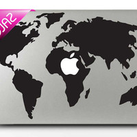 World Map   mac sticker mac decal macbook sticker macbook decal macbook pro sticker macbook pro decal