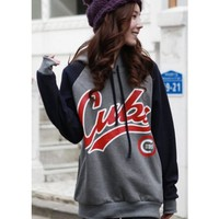 Free Size Girl/Women Grey Casual Hoodie With Cap T238g *Free Shipping Worldwide* from clothingloves