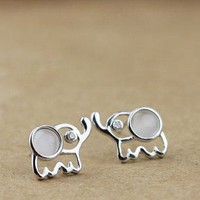 Cute Elephant Sterling Silver Stud from Tulita