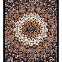Indian Star Hippie Tapestry - Hanging Wall Art and Bed Spread - Measures 60x90 Inches