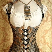 Waist 23 to 25 Silver and Gold Vixen by damselinthisdress on Etsy
