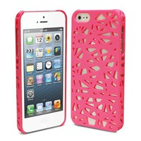 Lumii Ark Rubberized Hard Case for Apple iPhone 5 - Bird Nest (Hot Pink)