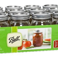 Ball® Regular Mouth Pint Jars with Lids and Bands- Set of 12 (by Jarden Home Brands)