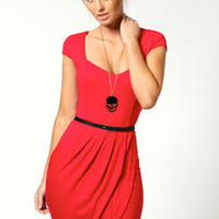 Natasha Cap Sleeve Jersey Dress