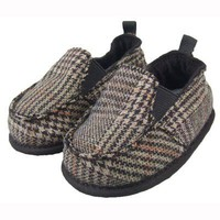 Brown Plaid Slip Ons from Me In Mind - What's New Baby - Baby 0-18 months Baby Wit