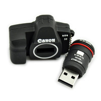 Cute Canon camera black 8GB USB 2.0 Flash Memory Stick Drive Stick Pen H502
