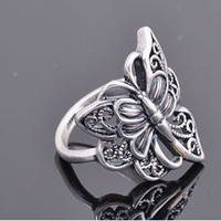 Antique Silver Hollowed Butterfly Ring at Fashion Jewelry Online Store Gofavor