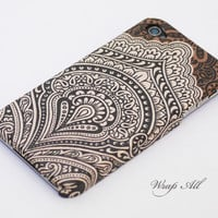 Vintage Bali pattern iPhone 4 case / Floral Bali pattern iPhone 4s case/  iPhone 4s / iPhone cover