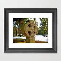 Celtic snow Framed Art Print by Vorona Photography | Society6