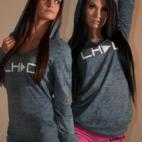 LH|>C Play Hoody Womens-blue