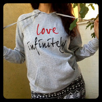 Love Infinitely Grey Pullover