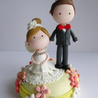 Wedding Clay Cake Topper (Not Edibl.. on Luulla