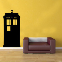 Doctor Who TARDIS Police Box Kids Vinyl Wall Sticker Decal Art Transfer Graphic