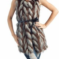 fur long vest $49.50 in BRNMLT - Fab Fur | GoJane.com