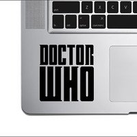 "Doctor Who Logo Vinyl Decal Sticker 3.0"" x 3.0"""