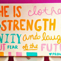 Dignity & Strength Proverbs Wall Art