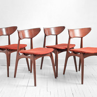 Vintage Danish Style Dining Chairs - Mid Century, Modern, Wood, Retro, Eames