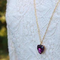 Vintage Glass Heart Necklace (Purple) | emmalou | ASOS Marketplace
