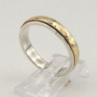 Hadas Gold Hand Crafted Art Swivel Gold Silver Ring