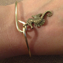 Brass Sea Horse Bangle Bracelet