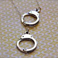 Handcuffs Necklace Lariat Sterling Silver by verabel on Etsy