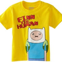 Adventure Time Boys 2-7 Finn The Human Tee, Yellow, Small