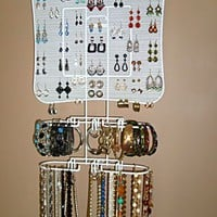 Organizing Jewelry Valet (White) by Longstem - Amazing display idea - Longstem is the mark of quali