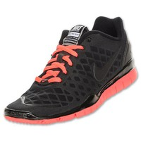 NIKE FREE TR FIT WOMENS 429785-008 (9, BLACK/ANTHRACITE-SOLAR RED)