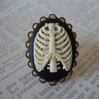 SKELE-GRO RING - Harry Potter Inspired Bone Regenerator Adjustable Ring Potion Lost Bones Broken Arm Harry Antiqued Brass Filigree