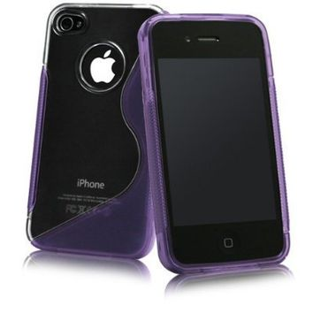 Apple iPhone 4S/iPhone 4 S-Line Hybrid Case (Purple)
