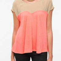 Urban Outfitters - Sparkle &amp; Fade Chiffon Yoke Neon Top