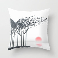 Aki Throw Pillow by Cynthia Decker | Society6