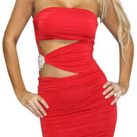 Angel Shark (Red)-Great Glam is the web's top online shop for trendy clubbin styles, fashionable party dress and bar wear, super hot clubbing clothing, stylish going out shirt, partying clothes, super cute and sexy club fashions, halter and tube tops, bel