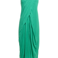REISS Womens Francesca Green Bandeau Jersey Dress