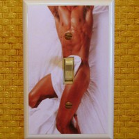 Funny Hottie or Nottie Beefcake Switchplate by kitschville on Etsy