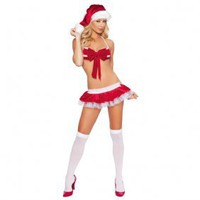 Sexy Xmas Costume Fluffy Dress Bralette Sets [#00300176] - US&amp;#36;15.87 : Amazplus.com
