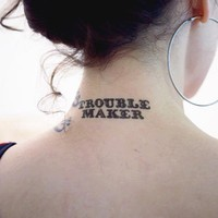 Tattly? Designy Temporary Tattoos — Trouble Maker