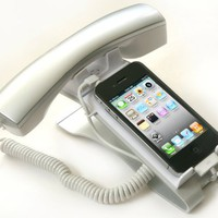 iClooly Phone Handset and Sync Stand for iPhone 4S, 4, 3GS, 3G, and Other Wireless Phones with 3.5