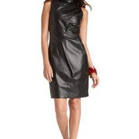 Leather Sleeveless 'LE825' Dress