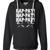 Amazon.com: Womens Hap-pay Hap-pay Hap-pay Happy Happy Happy Duck Dynasty Duck Hunting Deluxe Soft Fashion Hooded Sweatshirt Hoodie: Clothing