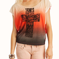 Graphic Cross Ombre Tee