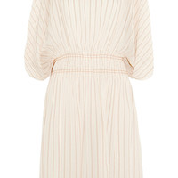 Chloé | Smocked silk-blend chiffon dress | NET-A-PORTER.COM