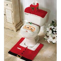 Amazon.com: Santa Toilet Seat Cover and Rug Set: Everything Else