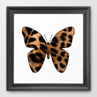 LEOPARD BUTTERFLY 2 Framed Art Print by catspaws | Society6