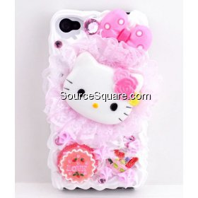 Sweet Hello Kitty Lace iPhone 4 / 4S Ice Cream Cake Hard Case - SourceSquare.com