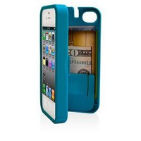 Amazon.com: EYN, Turquoise Case for iPhone 4/4S with built-in storage space for credit cards/ID/money: Cell Phones & Accessories