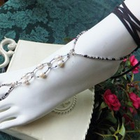 Sexy Ankle Wrap Beaded Barefoot Sandals Foot Jewelry