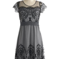 Grace Gardens Dress in Slate Grey | Mod Retro Vintage Dresses | ModCloth.com